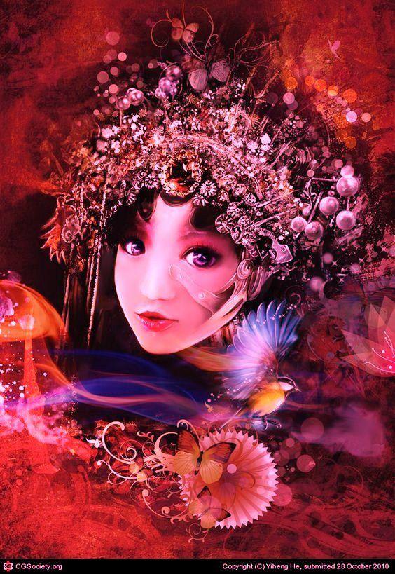 c'est fini les theme c'est art fantasy les personnages étranges ou beaux , à bientot !
