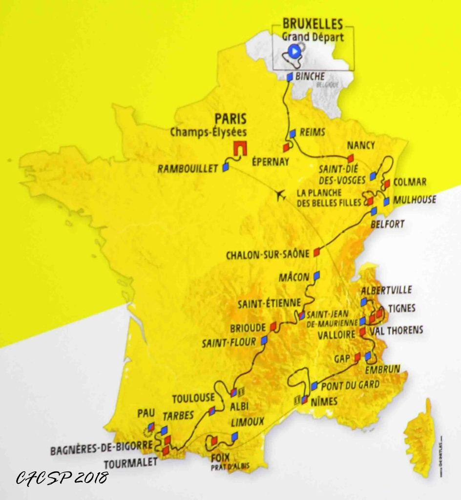CARTE DU TOUR DE FRANCE 2019 - CFCSP Coordination Française de Cyclisme des S-P