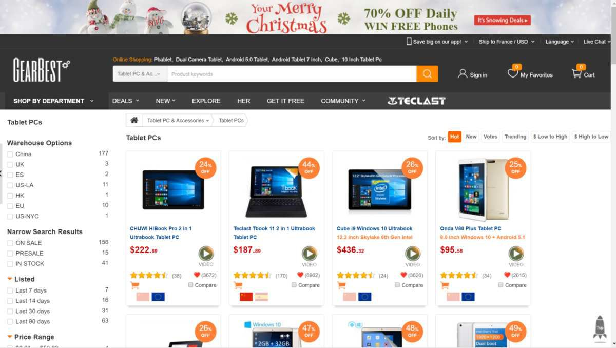 Tablet PCs ON GEARBEST.COM