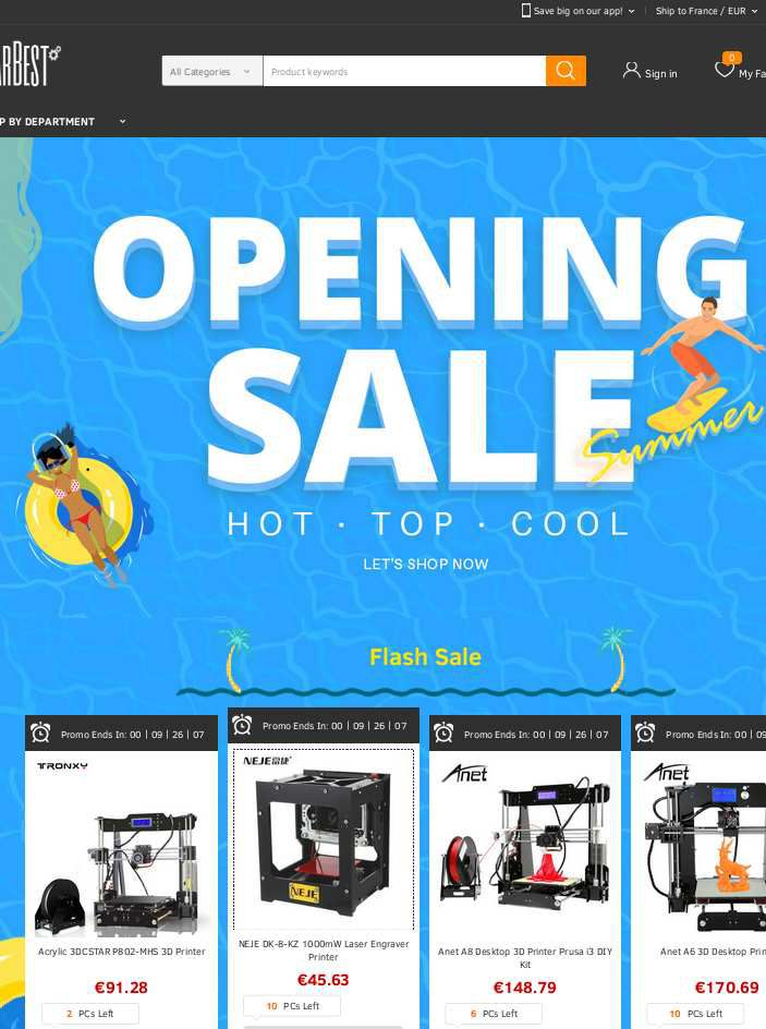 THE US SUMMER SALES ON GEARBEST.COM