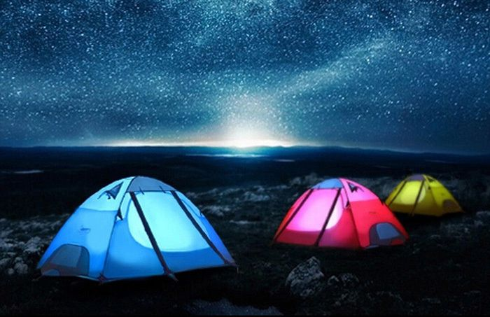 the Desert Fox Double Layers Camping Tent for 2 - 3 Persons