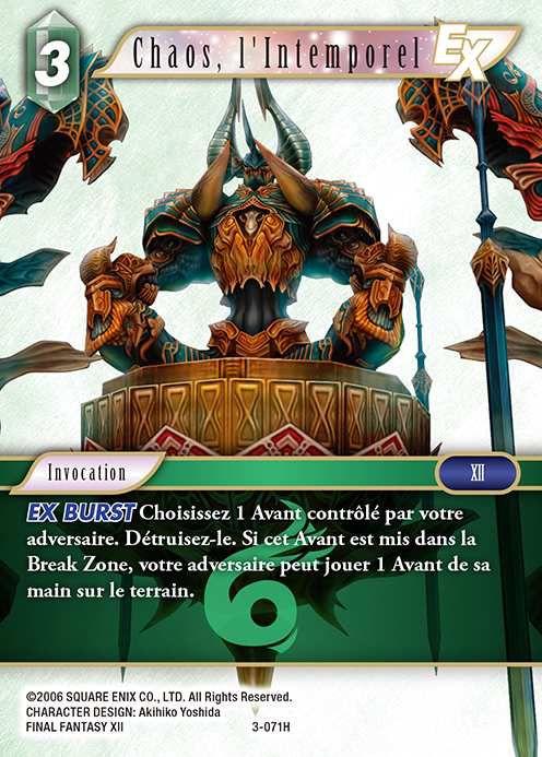 Carte : Chaos, l'Intemporel (3-071H)