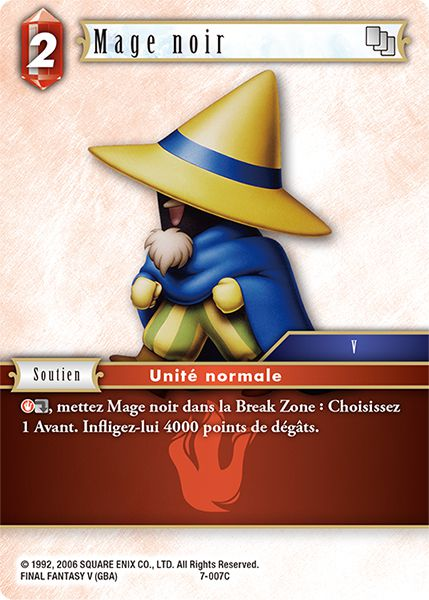 Carte FINAL FANTASY MAGE ROUGE 1-003C x 3