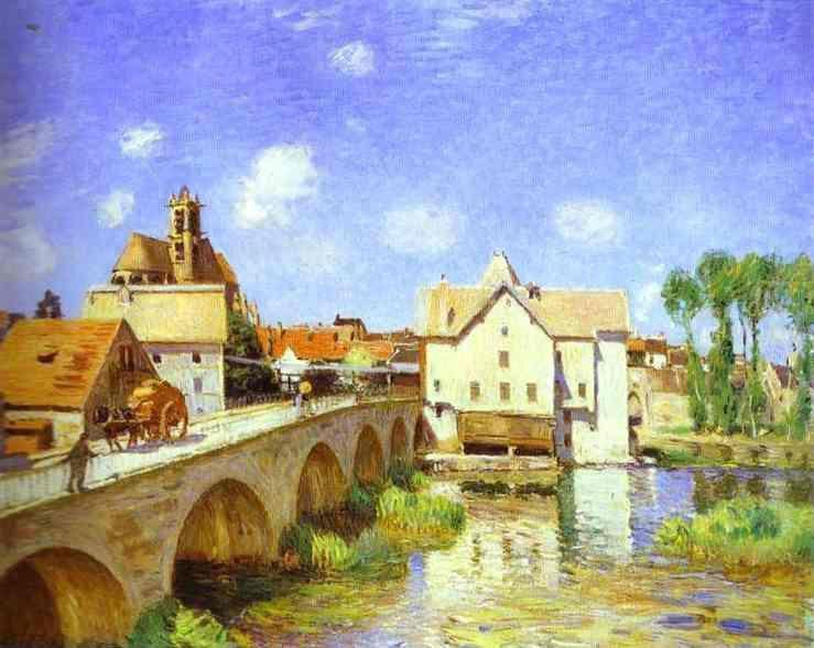 le pont de Moret - 1893