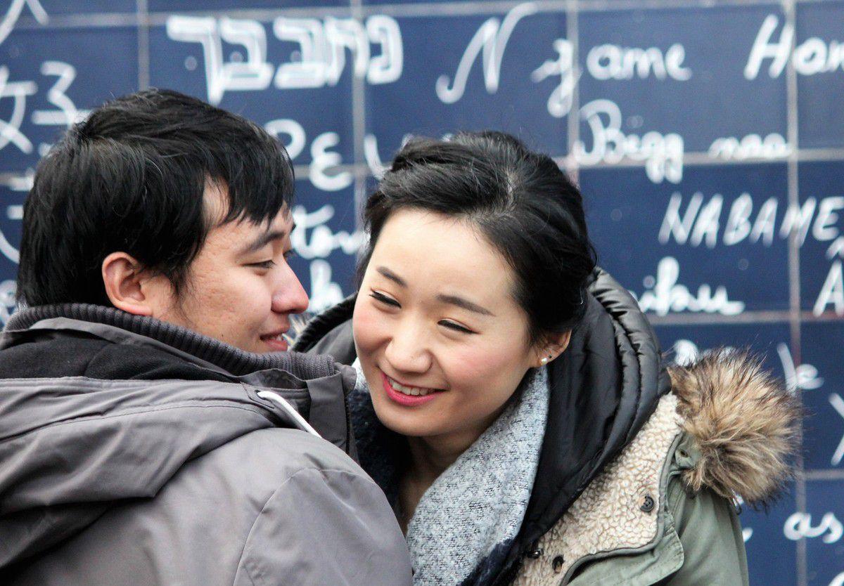 2 janvier. Mur des &quot&#x3B;Je t'aime&quot&#x3B;. 15h