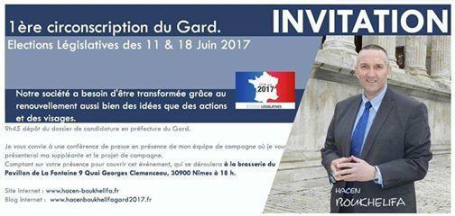 Conférence de presse de lancement de campagne ce jeudi 18 Mai à 18h / Pavillon de la Fontaine Nîmes