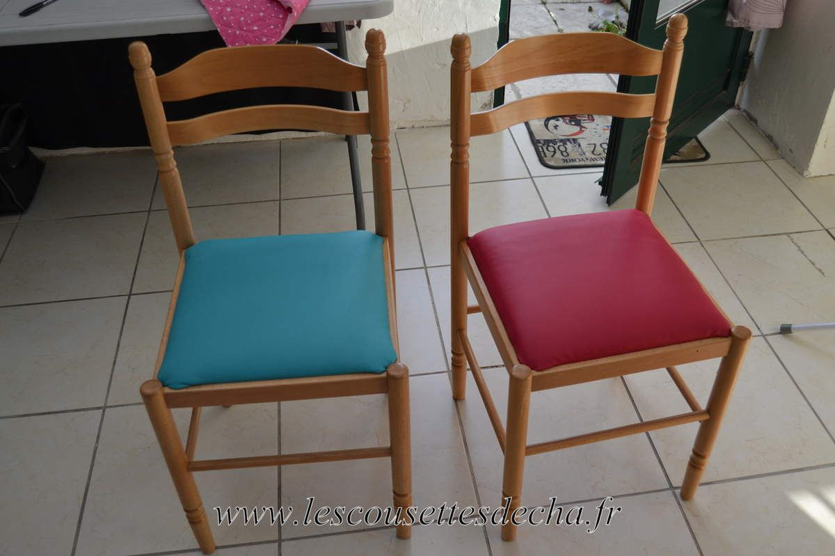 restauration de chaises les cousettes de cha. Black Bedroom Furniture Sets. Home Design Ideas