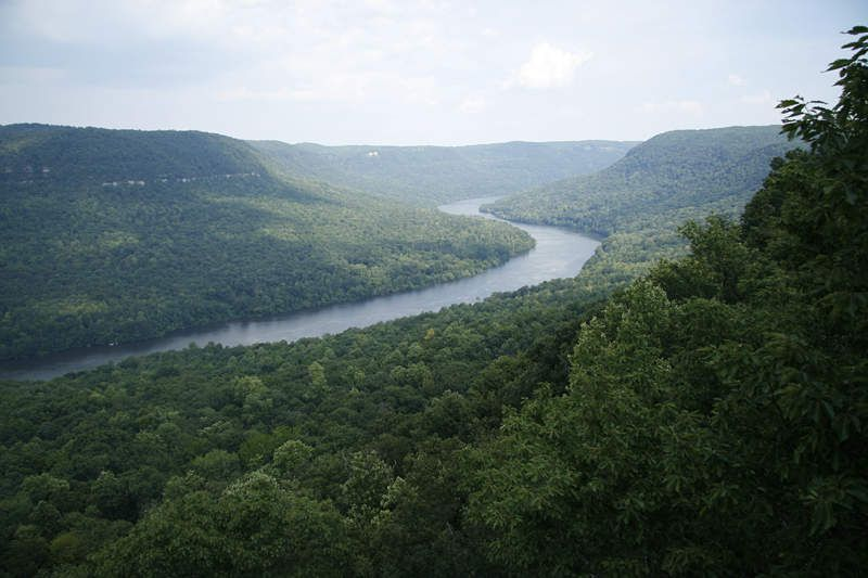 (Tennessee River, Gallery Gorge, photo de Blueway, 18/01/2009, wikipédia)