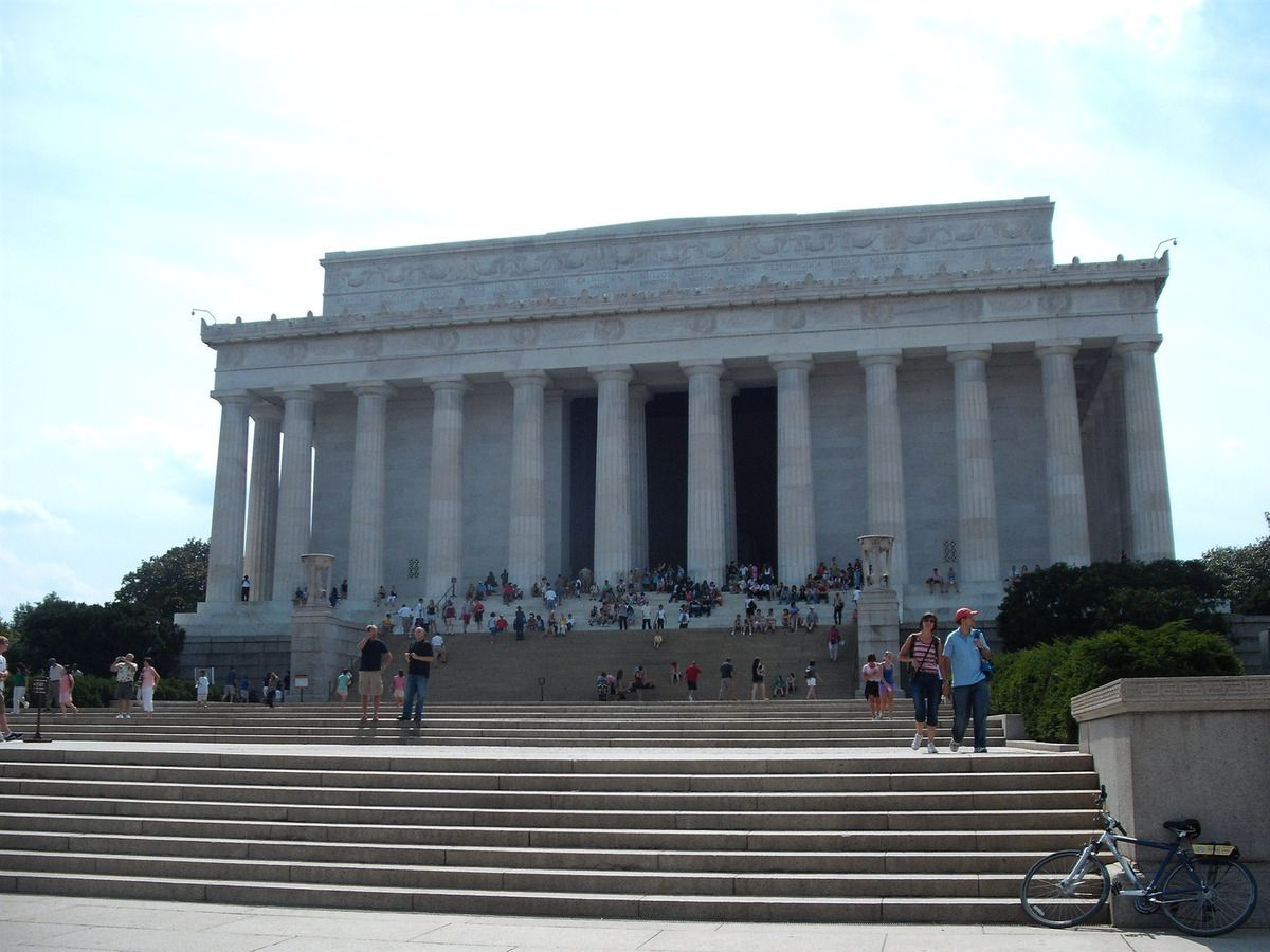 (Lincoln Memorial, Washington, photo de Vincent CHARLES, 15/07/2009)