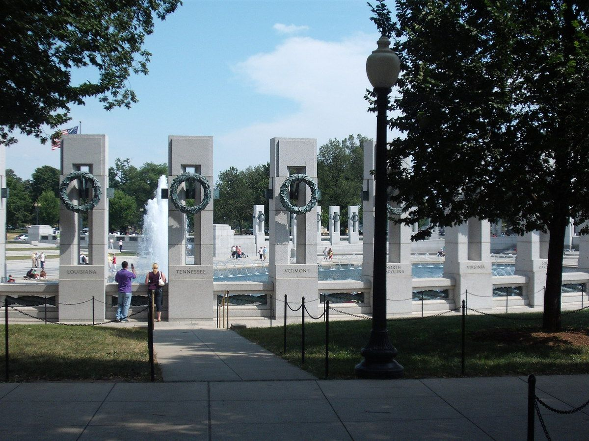 (World War II Memorial, photo de Vincent CHARLES, 15/07/2009)