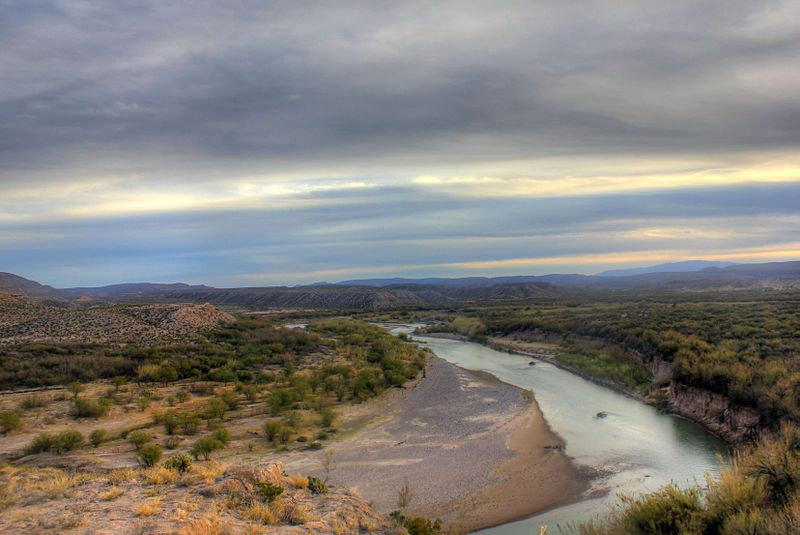 (Rio Grande, Big Bend National Park, photo de Ynan Chen, 19/1/2014, www.goodfreephotos.com)