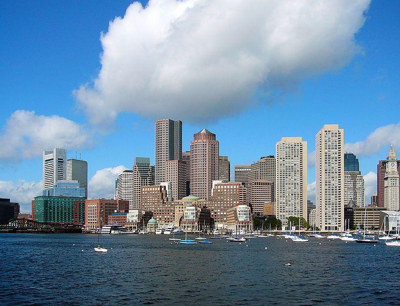 (Financial District, vu depuis le port, photo de Nelson48, 27/06/2006, wikipedia)