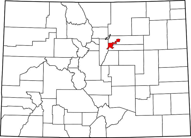 (Localisation du Denver County, image David Benbennick, 13/02/2006, wikipedia)