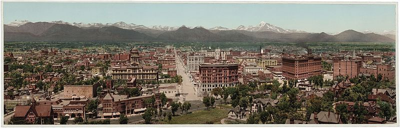 (Denver en 1898, William henry Jackson, 1898, www.loc.gov, wikipedia)