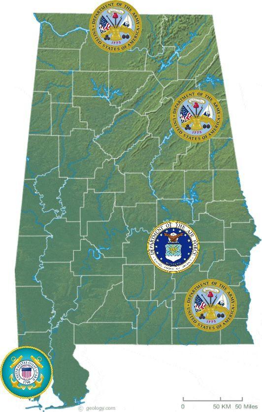 (Bases actives en Alabama, création Vincent CHARLES)