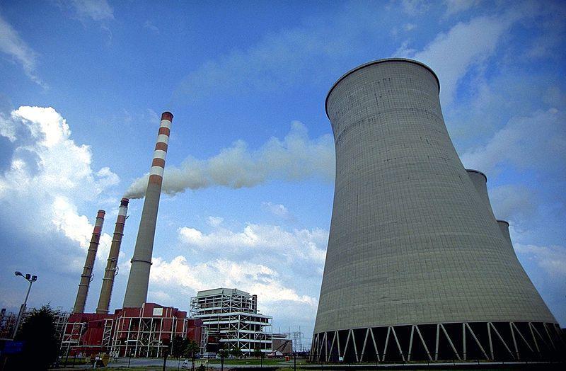 (Centrale à charbon de Paradise, photo Tennessee Valley Authority, www.tva.com)