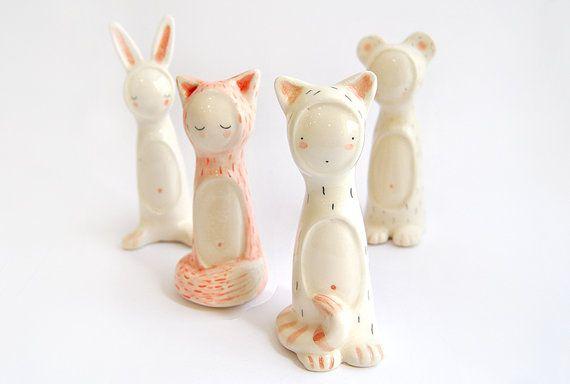 """Adorables figurines en céramique (à chiner dans l'article """"Céramique"""")"""
