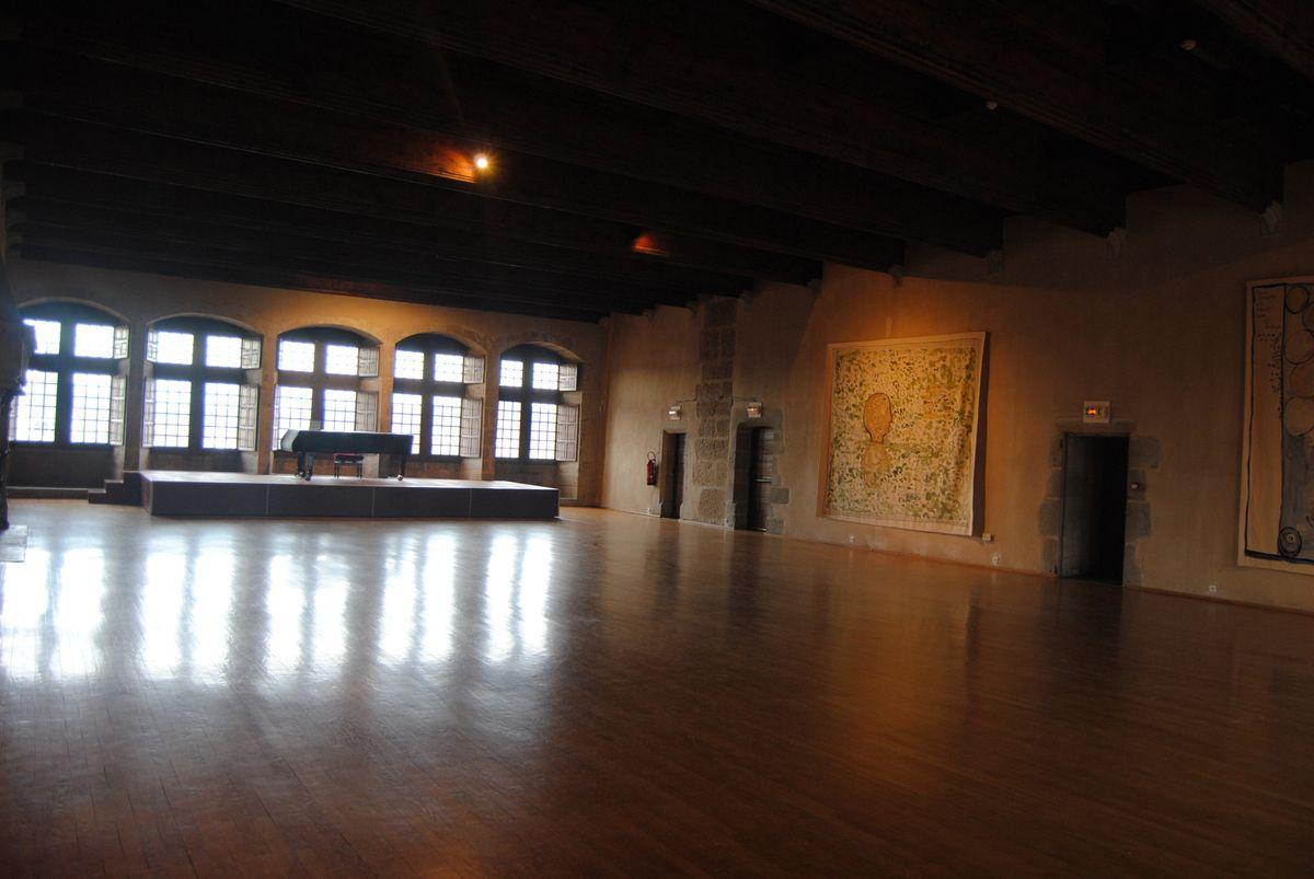 """Magnifique """"aula"""" du château d'Annecy (photo, E.Coux)"""
