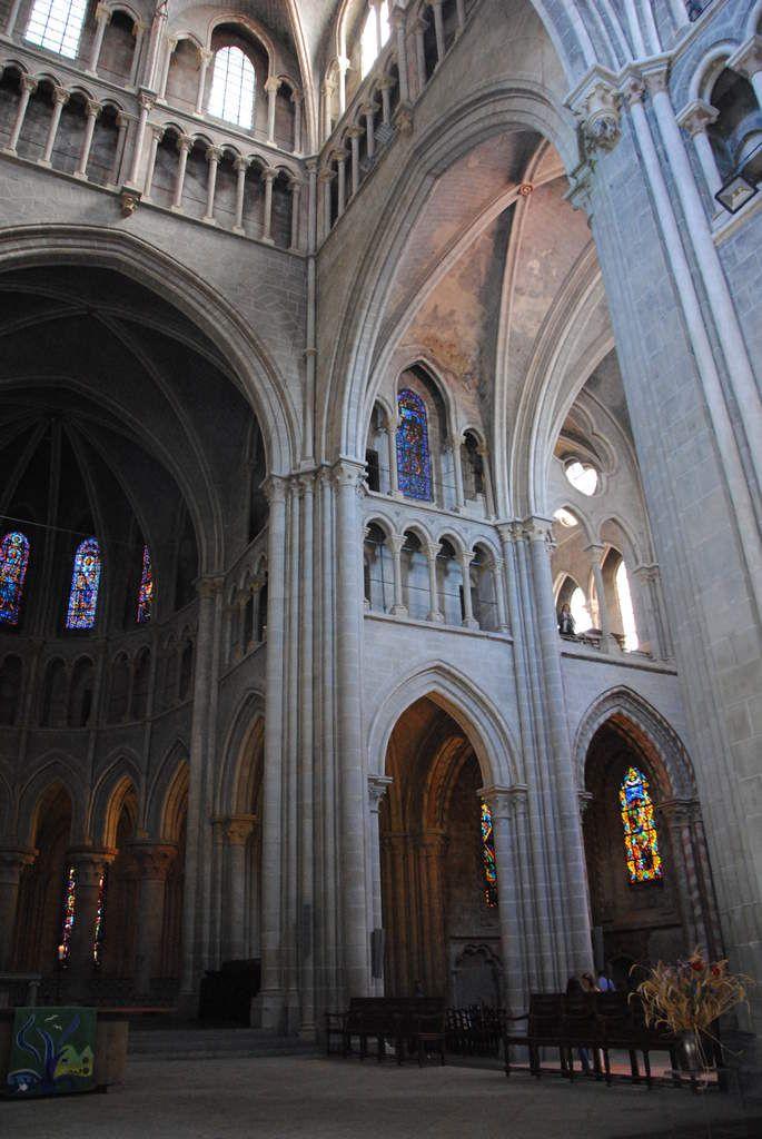 la chapelle se situait sur le jubé maintenant détruit de la cathédrale de Lausanne (Photo E. Coux)