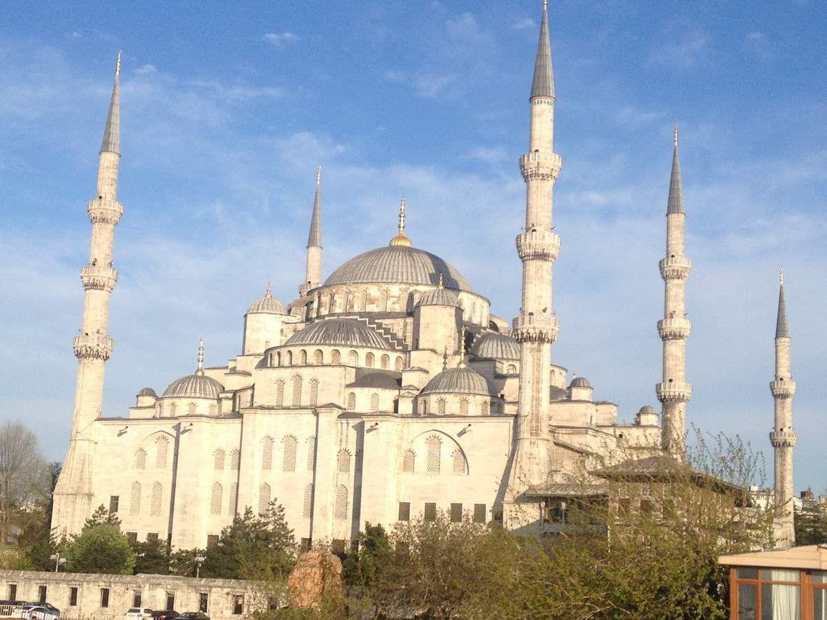La Mosquée Bleu, vue de la terrasse de notre hôtel