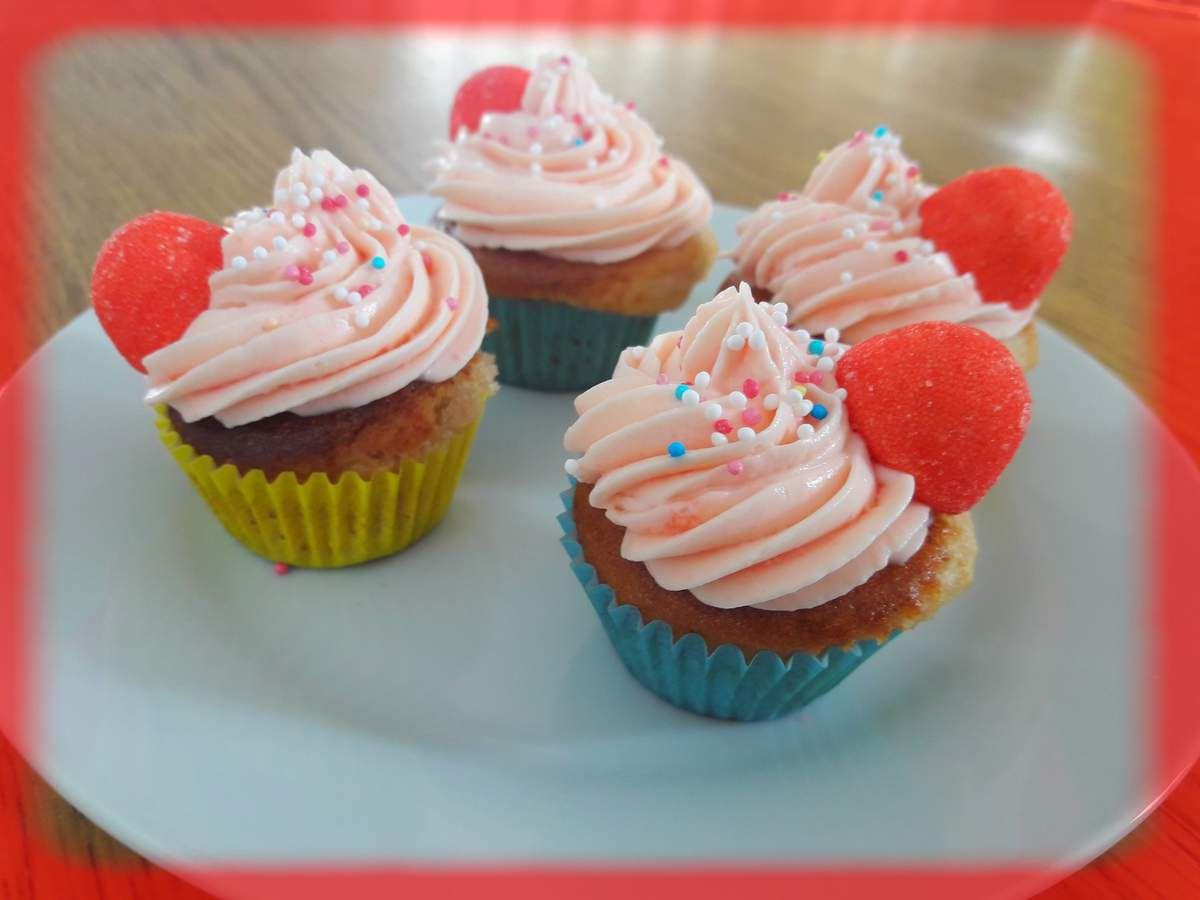 Mini cupcakes aux fraises Tagada
