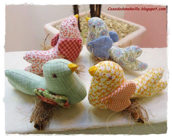 Tuto couture : réaliser de jolis oiseaux en tissu , avec son tuto et son pas à pas en images !