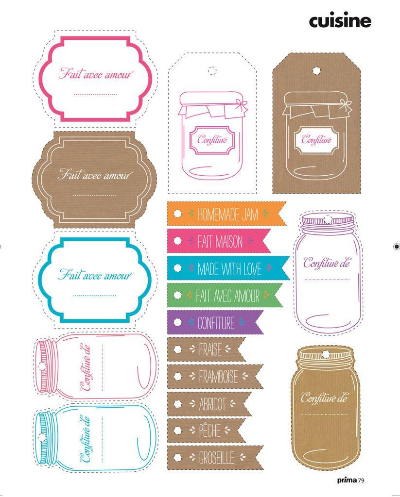 Fabulous Etiquettes à confitures à imprimer ! - 1000 idées à faire chez soi OI94