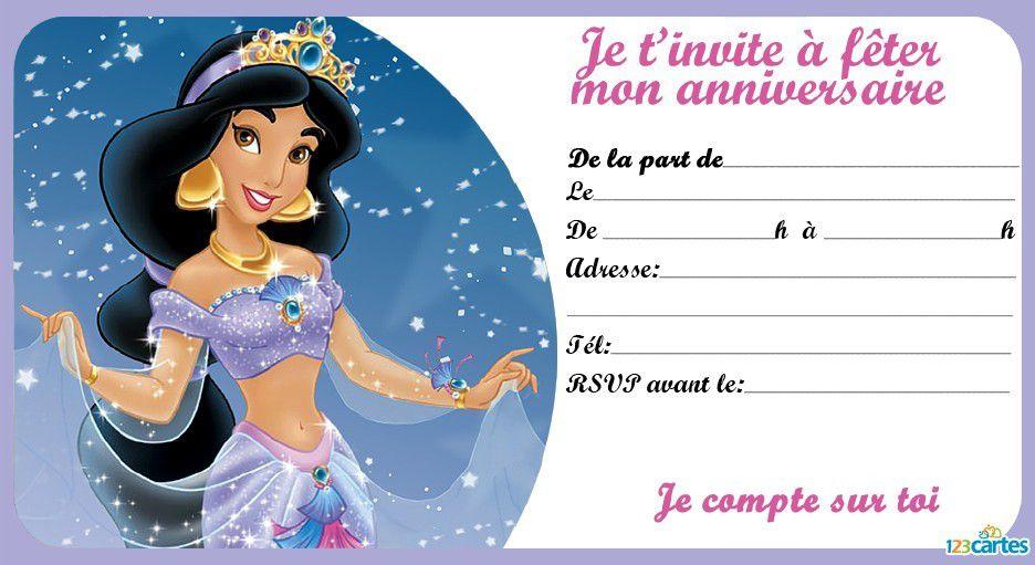 Gut gemocht Invitation anniversaire Princesse , à imprimer gratuitement  VF46