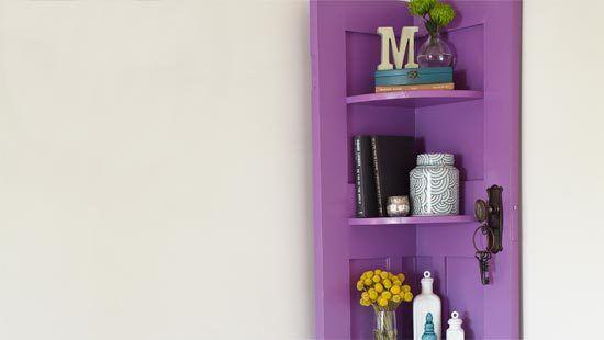 Tuto bricolage : Transformer une porte en meuble d'angle , avec son pas à pas en images !