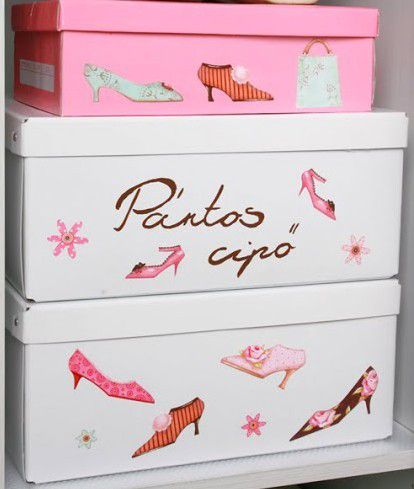 tuto bricolage r aliser de jolies boites chaussures en suivant son pas pas en image. Black Bedroom Furniture Sets. Home Design Ideas