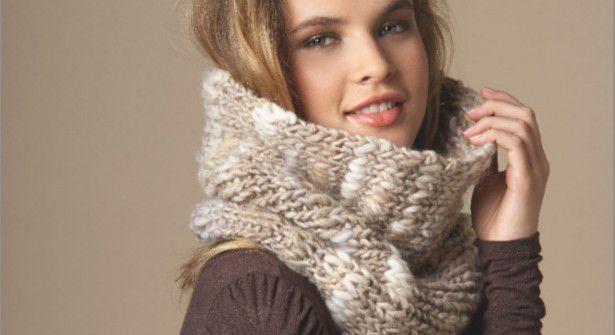 Tuto tricot : réaliser un snood chiné en côtes 1/1 pour l'hiver !