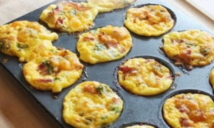 Tuto recette facile : Muffins aux oeufs , jambon , fromage , avec son pas à pas en images !