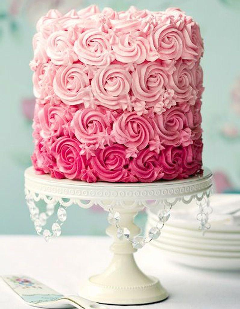 Recette du Ombre Rose Cake