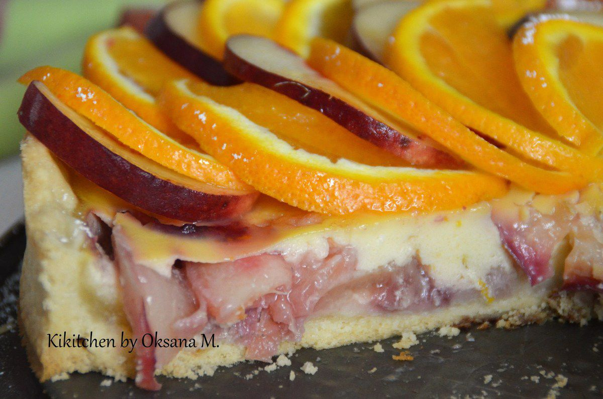 Peach Orange and Berry Tart