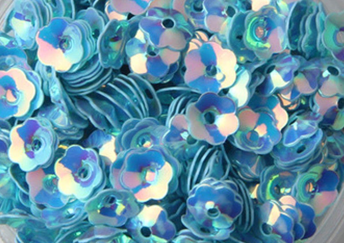 Paillettes carrées / cuvettes / fleurs / plates
