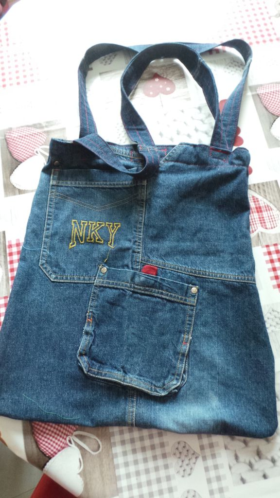 r aliser un sac en jeans recycl s blog couture a quatre mains. Black Bedroom Furniture Sets. Home Design Ideas