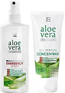 LR Aloe Vera Emergency Set II comprenant 1 x LR Aloe Vera Emergency Spray 150 ml et 1 x LR Aloe Vera Concentré 100 ml