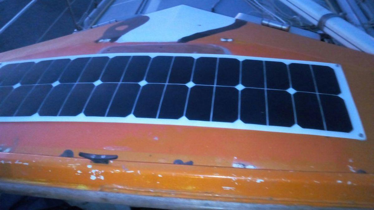 Panneaux solaires et descente