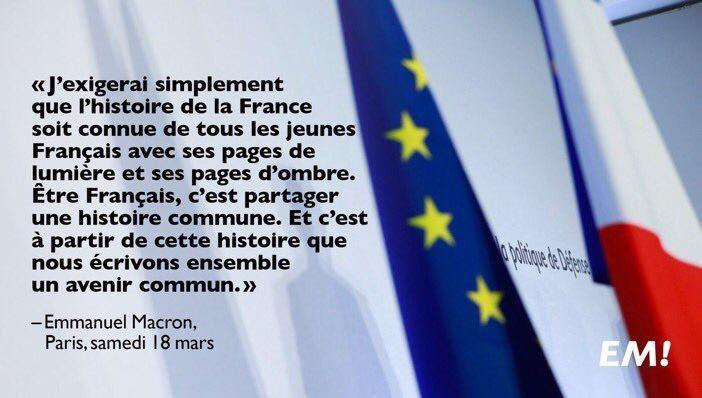 Emmanuel Macron présente sa politique de défense le 18 mars à l'Hôtel des Arts et Métiers à Paris.