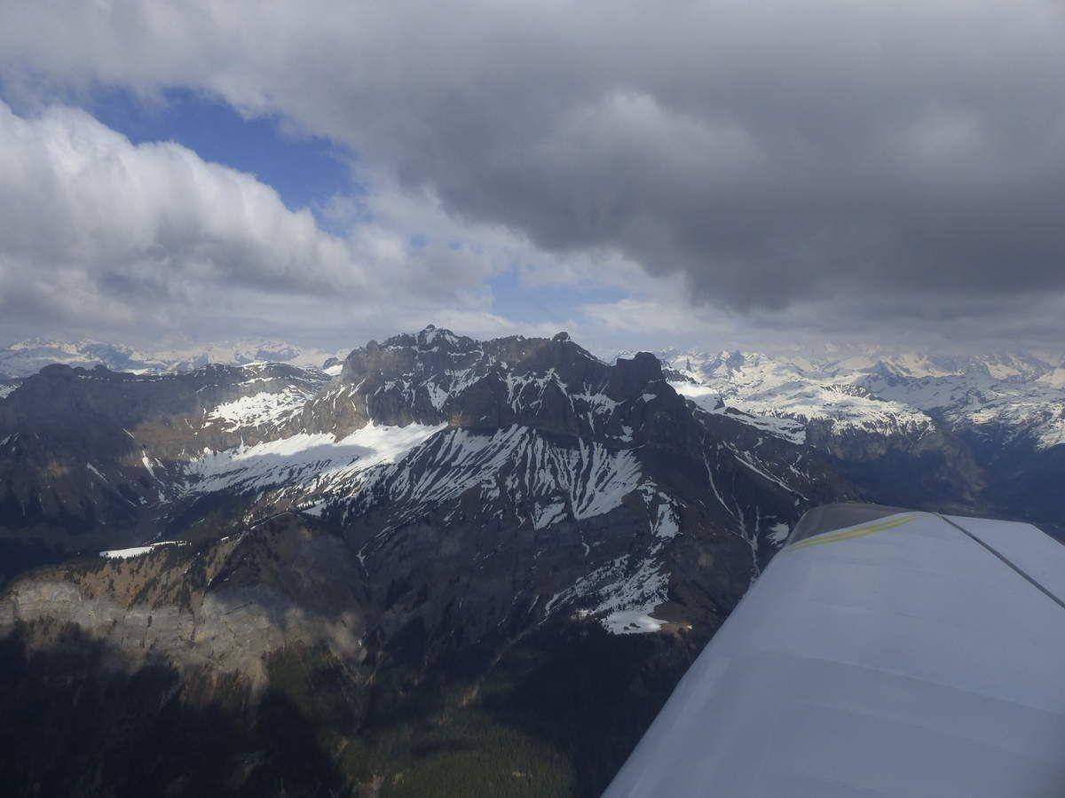 Vol vers le Mont Blanc / Flight around the Mont Blanc