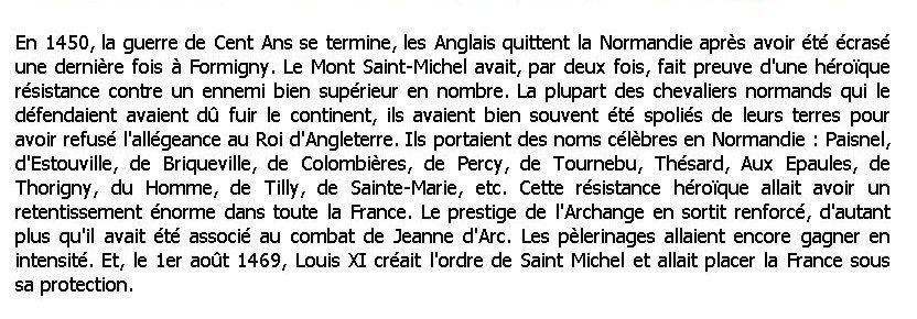 un ancêtre du Tanu sauve le Mont St Michel