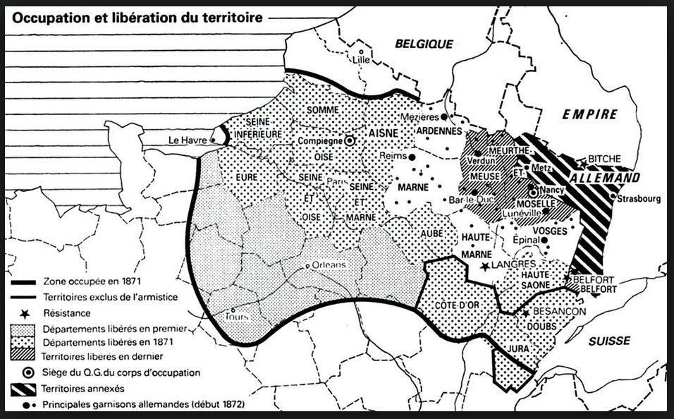 avancées prussiennes en 1870