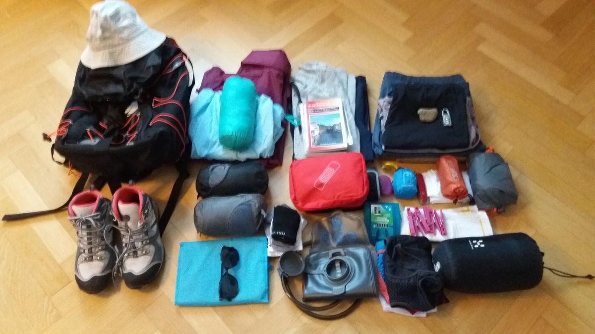 Here is everything that I plan to take with me. Too much?