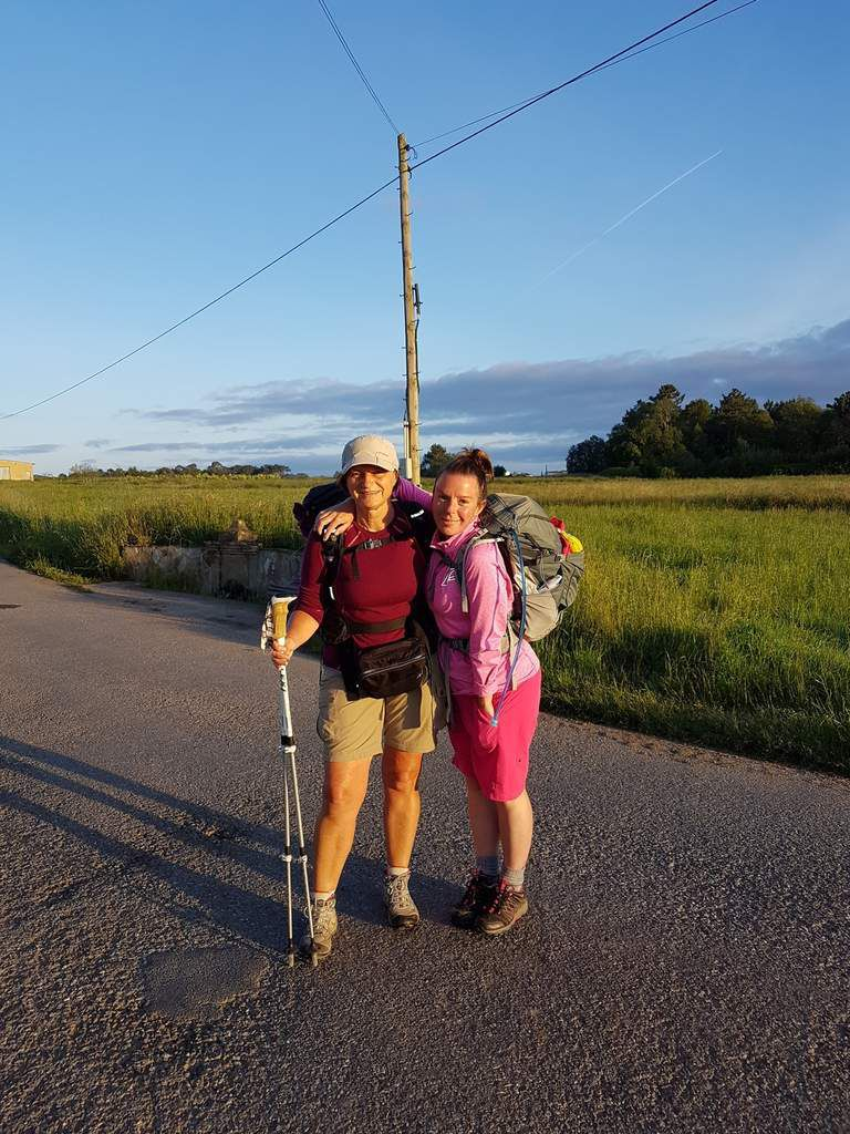 Early morning on the Camino representing karlshamn and Gotland