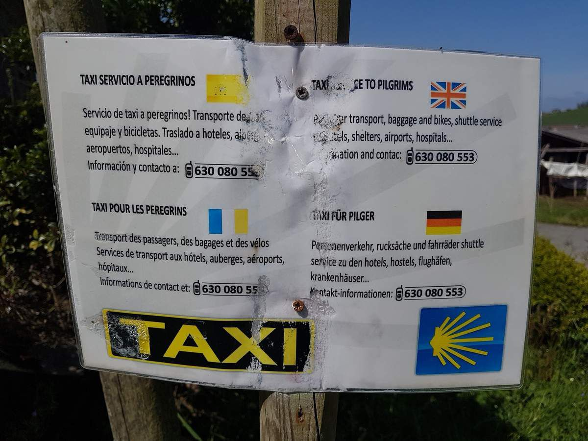 One of many advertising for taxi