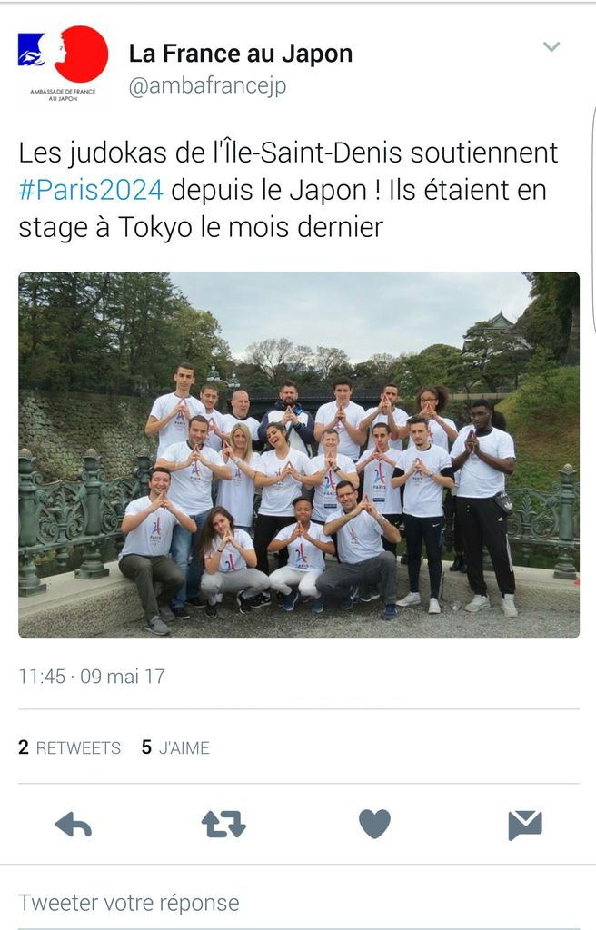 Publications facebook et twitter de l'ambassade de France au Japon