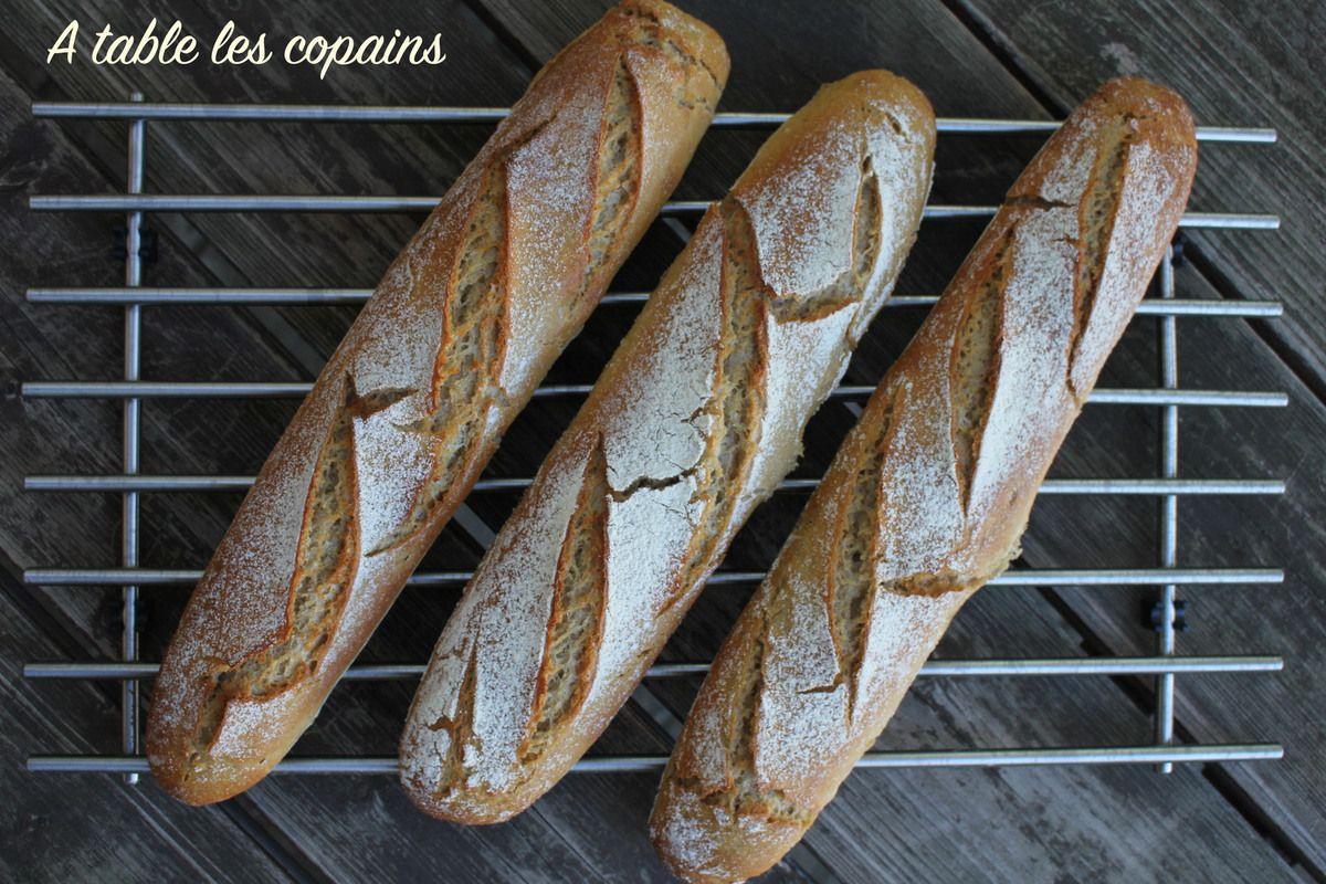 Baguettes à la farine de meule au petit épeautre et levain naturel