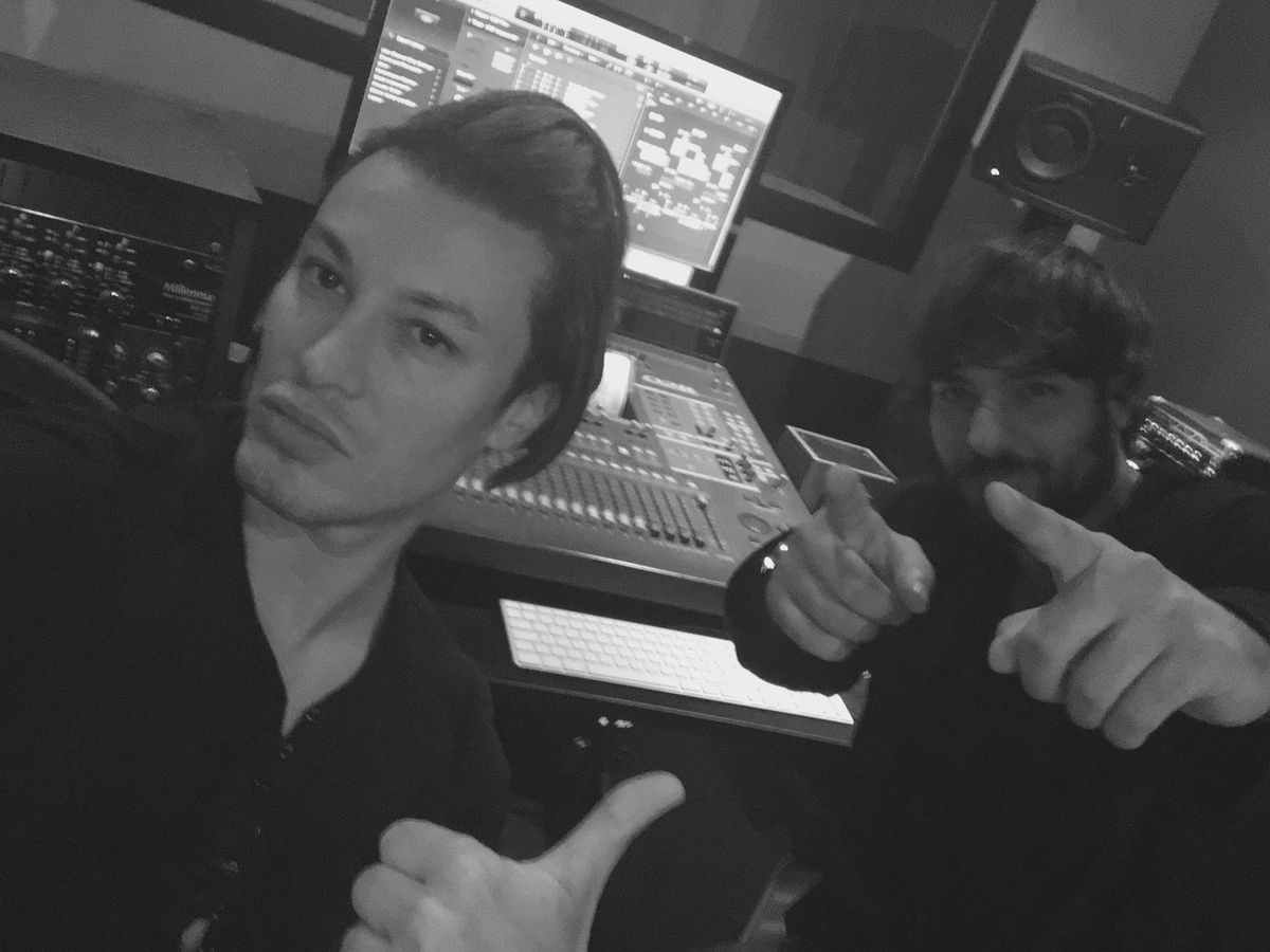 Lord Conrad Working at his new single Touch The Sky, a mix between trance and edm electronic