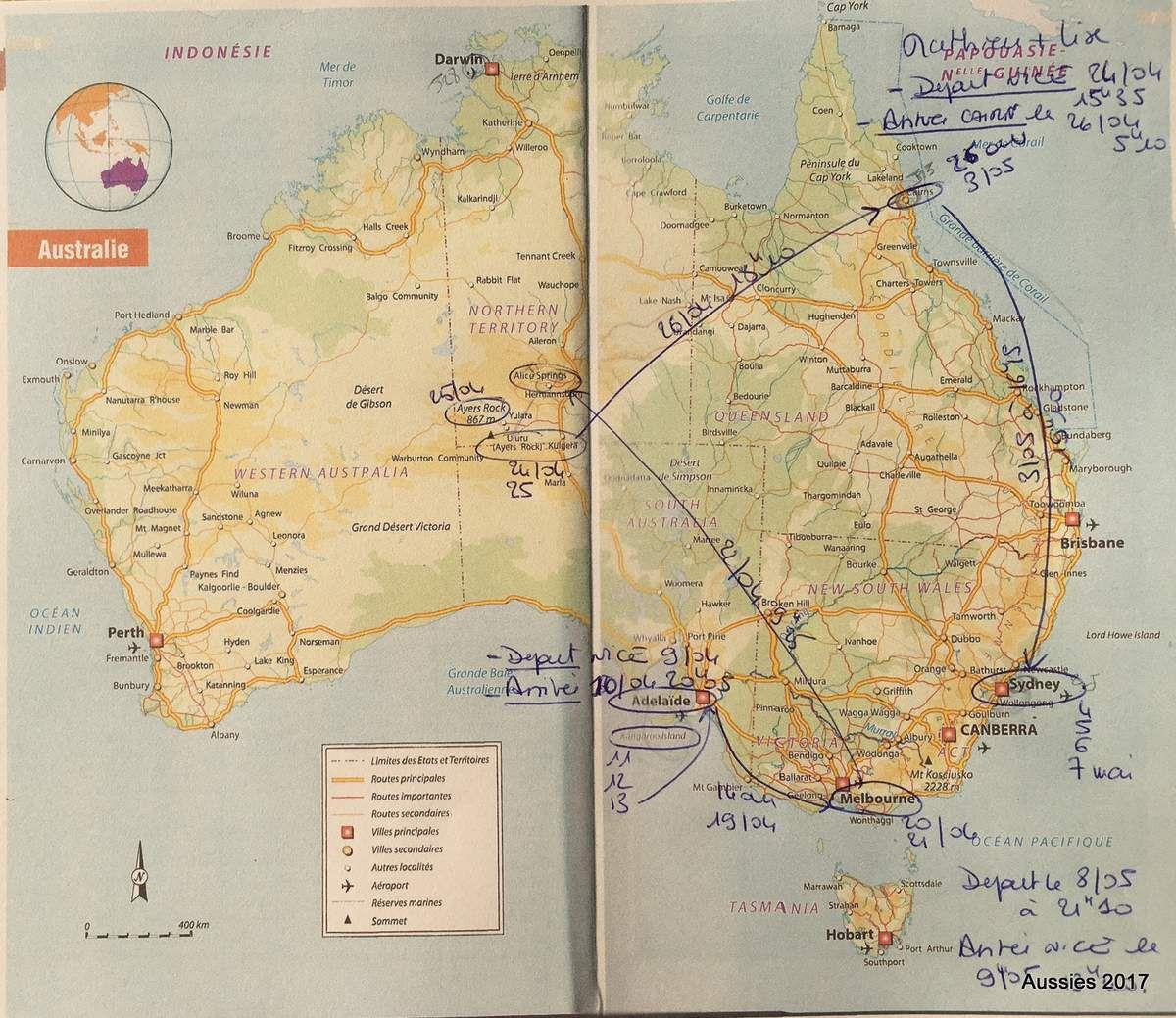 Notre trip in Australia