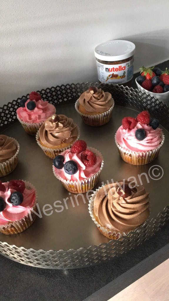 Assortiment cup cake Nutella & fruits rouges